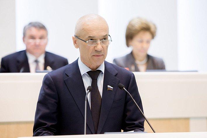 Ю. Кушнарь 371-е заседание Совета Федерации
