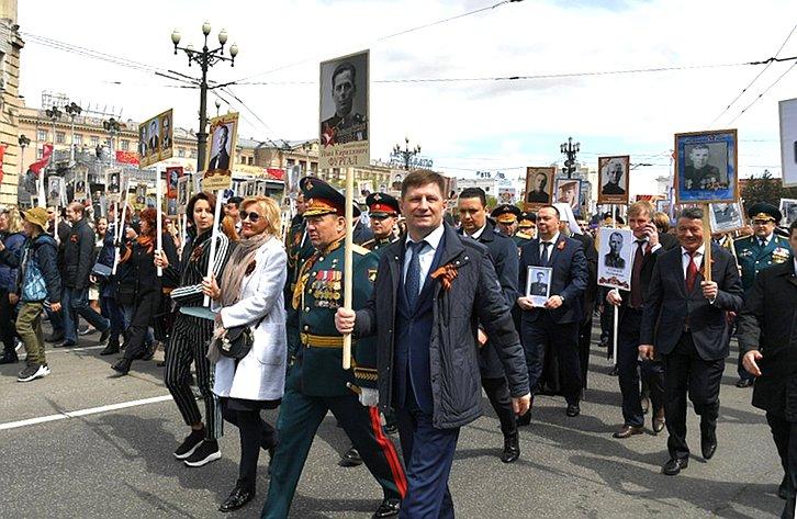 В. Озеров принял участие вмероприятиях, посвященных 74-й годовщине Победы вВеликой Отечественной войне