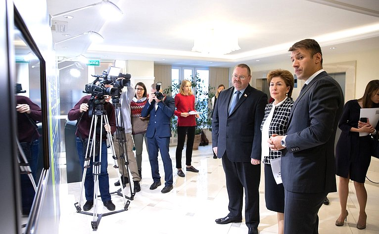 Открытие выставки «Дом.РФ» вСовете Федерации