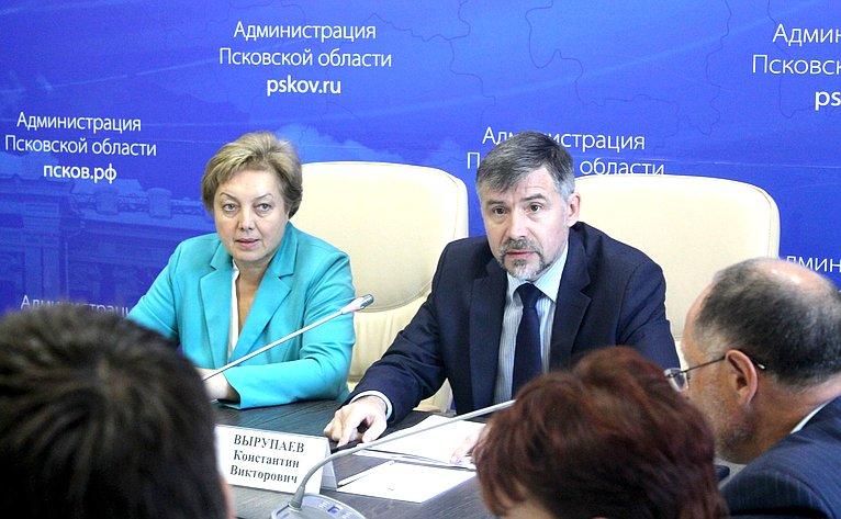 ВПсковской области состоялось совместное выездное заседание Экспертного совета иПалаты молодых законодателей при СФ