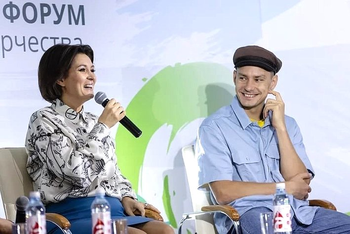 Маргарита Павлова входе поездки врегион приняла участие впроведении Всероссийского форума инклюзивного творчества