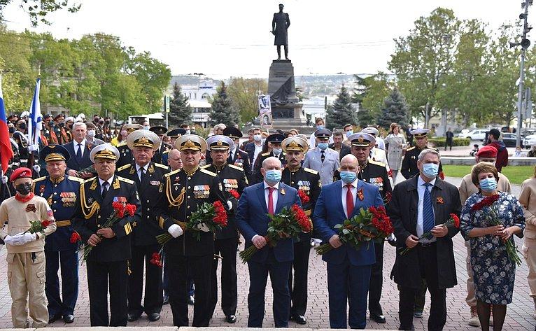Е. Алтабаева вСевастополе приняла участие вмероприятиях, посвященных 75-летию Великой Победы