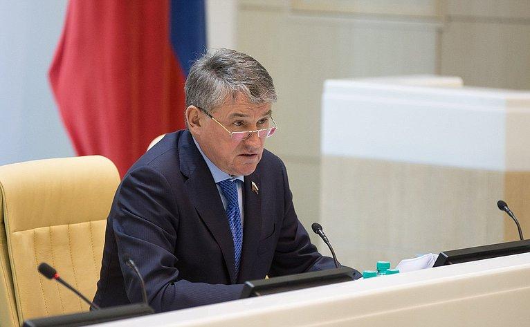 Ю. Воробьев на386-м заседании Совета Федерации