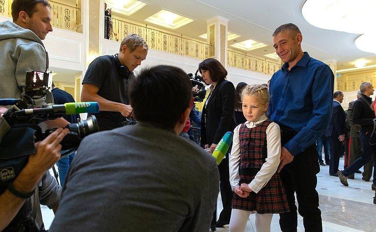 Торжественная церемония награждения детей иподростков, проявивших личное мужество вэкстремальных ситуациях испасших человеческие жизни