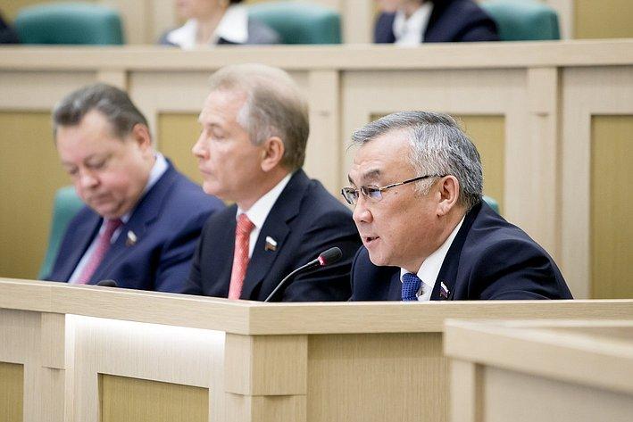 Б. Жамсуев 371-е заседание Совета Федерации