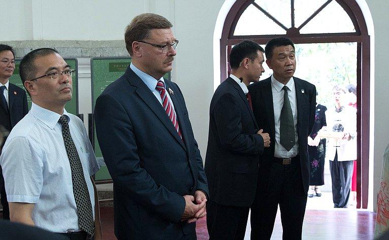 Посещение Дома российско-китайских культурных обменов