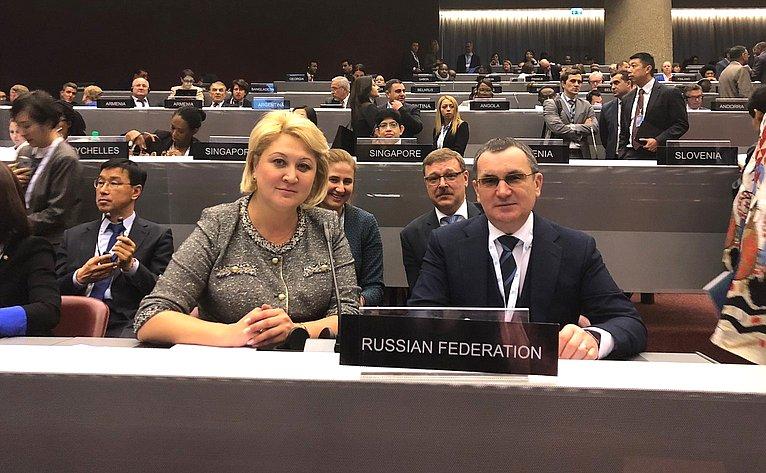 Участие делегации Совета Федерации вработе 138-й Ассмблеи МПС