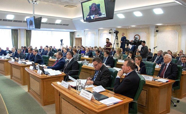Ежегодное совещание Председателя Совета Федерации В.Матвиенко состатс-секретарями– заместителями руководителей федеральных органов исполнительной власти