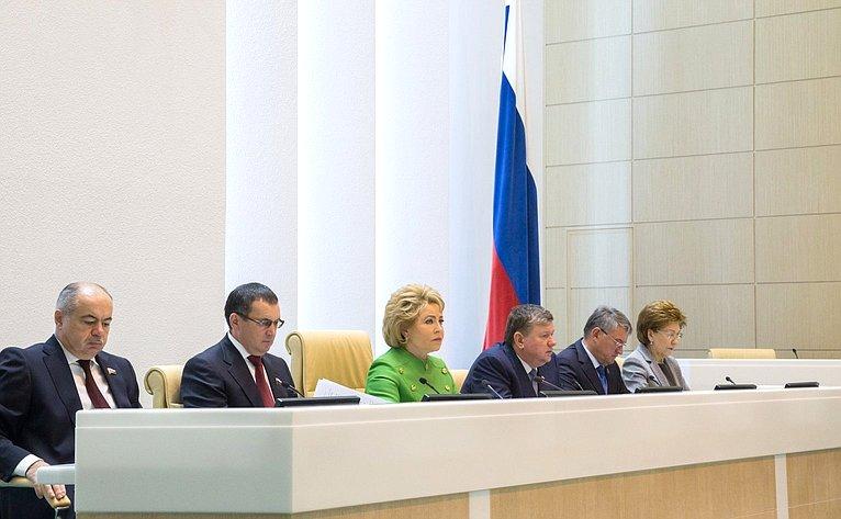 И. Умаханов, Н. Федоров, В. Матвиенко, Е. Бушмин, Ю. Воробьев иГ. Карелова