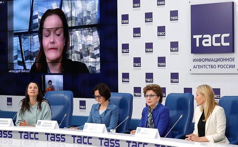 Пресс-конференция, посвященная Третьему Евразийскому женскому форуму «Женщины: глобальная миссия вновой реальности»