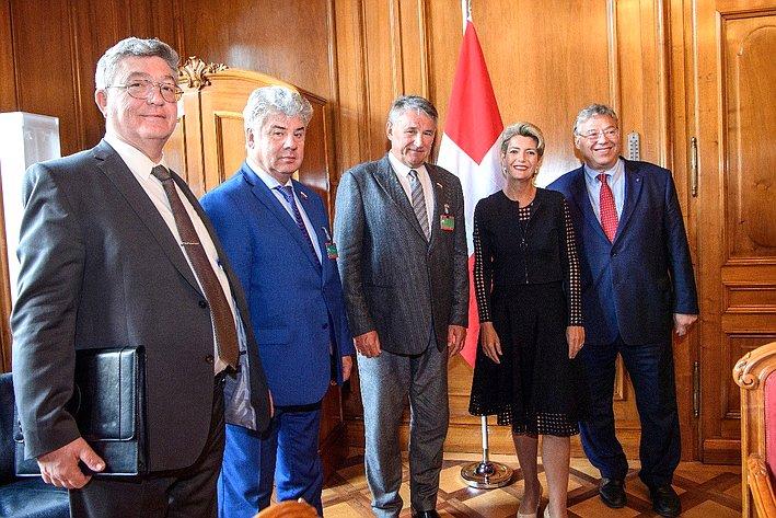 Визит вШвейцарию делегации группы посотрудничеству Совета Федерации сСоветом кантонов Федерального Собрания Швейцарской Конфедерации