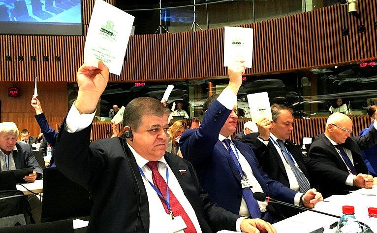 Делегация Совета Федерации воглаве сВладимиром Джабаровым приняла участие вработе прошедшей вЛюксембурге 28-й летней сессии ПА Совета Европы