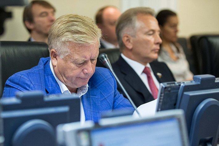 Заседание Комитета Совета Федерации по международным делам Тягачев