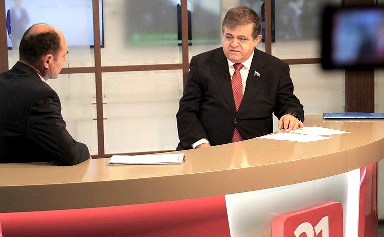 Владимир Джабаров дал интервью каналу «НТК21»
