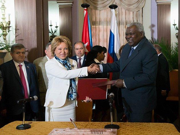 Официальный визит делегации Совета Федерации во главе с Председателем палаты в  Республику Куба 1