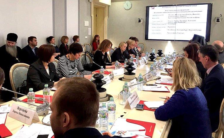 Е. Попова приняла участие ввидеоконференции натему «Механизмы поддержки семьи посредством общественно-государственного взаимодействия»