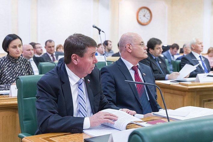 Заседание совета при Председателе СФ по вопросам жилищного строительства и содействия развитию ЖКХ Цеков и Круглый