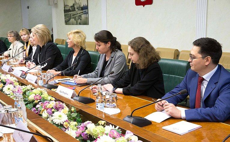 Встреча Лилии Гумеровой спредставителями Всемирной организации интеллектуальной собственности (ВОИС) иассоциаций французских производителей товаров, маркируемых НМПТ