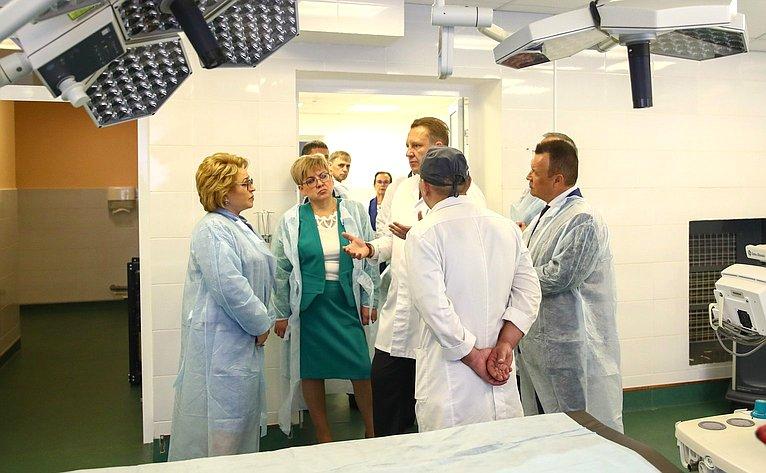 Посещение В. Матвиенко Забайкальского кардиологического иожогового центра, краевого онкологического диспансера