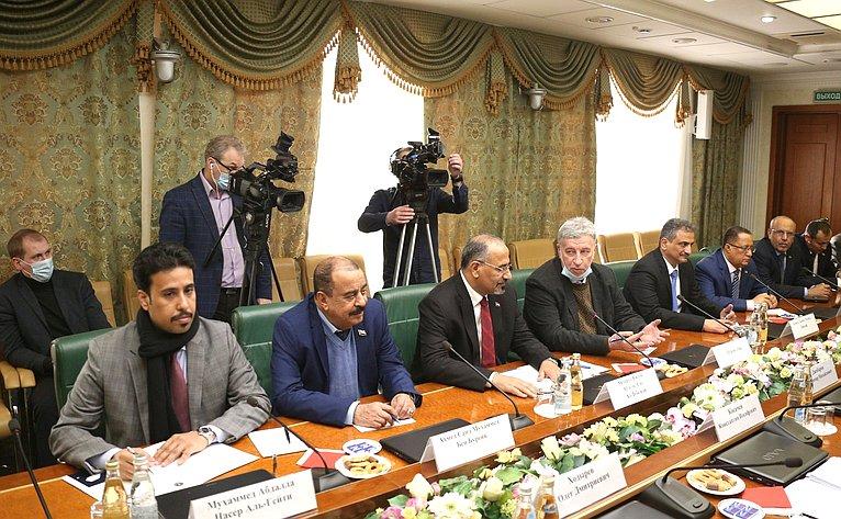 Встреча Константина Косачева спредседателем йеменского Южного переходного совета А.Аз-Зубейди