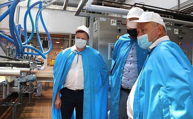Алексей Кондратенко посетил одно изкрупнейших предприятий перерабатывающей промышленности Краснодарского края
