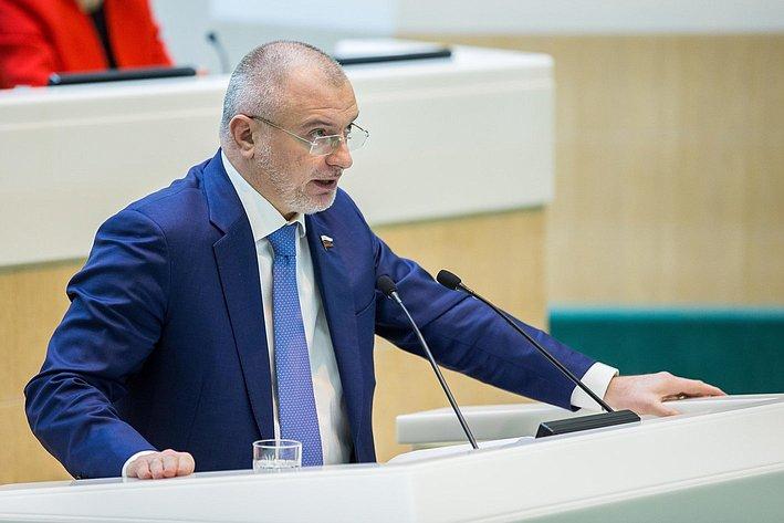 А. Клишас на385-м заседании Совета Федерации