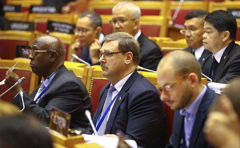Заседание 137-й Ассамблеи МПС вСанкт-Петербурге натему «Продвигая культурный плюрализм имир через межкультурный имежэтнический диалог»