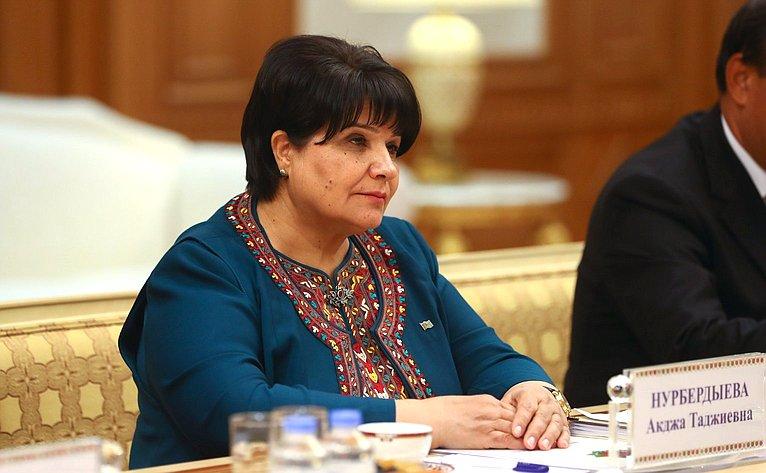 Председатель Меджлиса Туркменистана А. Нурбердыева