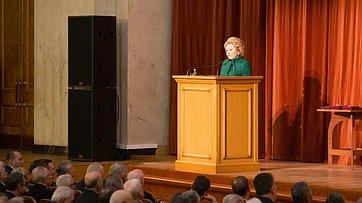 Выступление В. Матвиенко наторжественном собрании послучаю Дня дипломатического работника