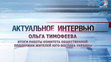 О.Тимофеева о работе Комитета общественной поддержки жителей Юго-Востока Украины в 2015 году