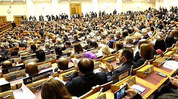 Выступление В. Матвиенко наитоговом заседании 137-й Ассамблеи Межпарламентского союза
