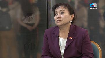 А. Алтыбаева оВтором Евразийском женском форуме
