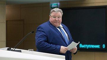 Врамках «часа субъекта Российской Федерации» вСФ выступил глава Республики Мордовия В.Волков