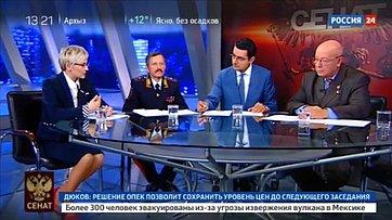 Безопасность надорогах. Программа «Сенат» телеканала «Россия 24»