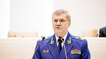 Генпрокурор РФ Ю. Чайка ответил навопросы сенаторов входе 353-го заседания Совета Федерации