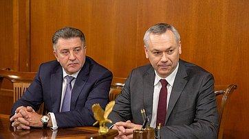 Встреча В.Матвиенко сруководителями Новосибирской области
