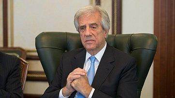 Встреча В. Матвиенко сПрезидентом Уругвая Т.Васкесом