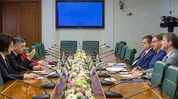 К. Косачев провел встречу сделегацией парламентской партии «Альянс патриотов Грузии»