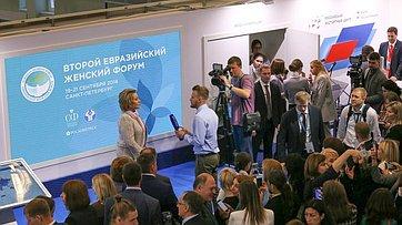 В. Матвиенко оВтором Евразийском женском форуме