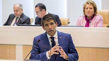 Выступление вСовете Федерации Вице-президента, Председателя Генеральной Ассамблеи иСената Уругвая Р.Сендика
