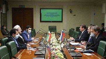 Встреча Константина Косачева сделегацией Комиссии понациональной безопасности ивнешней политике парламента Ирана