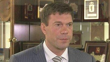 О. Царев отвечает навопросы СМИ поитогам заседания Комитета общественной поддержки жителей Юго-Востока Украины