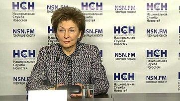 Брифинг заместителя Председателя Совета Федерации Галины Кареловой на тему: «2015 год по праву можно назвать социальным годом»