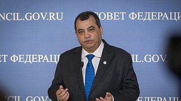 Председатель Межпарламентского союза Сабер Чоудхури овизите вРоссию ивизите вСовет Федерации