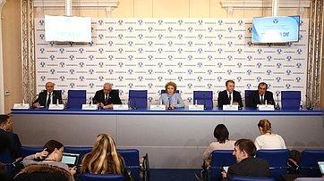 Пресс-конференция поитогам заседания Совета МПА СНГ