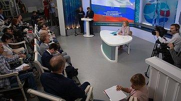 Пресс-конференция Председателя СФ В.Матвиенко поитогам весенней сессии Совета Федерации. Запись трансляции от26июля 2018г