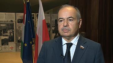 Заместитель Председателя СФ И.Умаханов подвел итоги Конференции председателей парламентов стран-членов Совета Европы