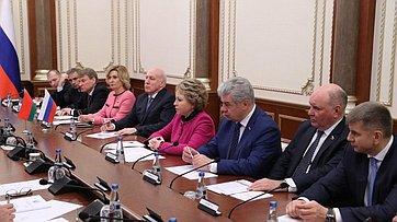 Встреча В.Матвиенко сПредседателем Палаты представителей Национального собрания Республики Беларусь В.Андрейченко