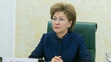Г. Карелова на заседании Совета по делам инвалидов при Совете Федерации