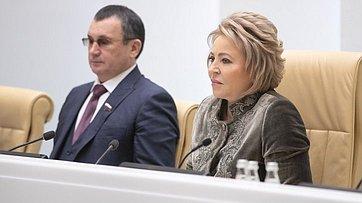 Брифинг В.Матвиенко поитогам 447-го заседания Совета Федерации